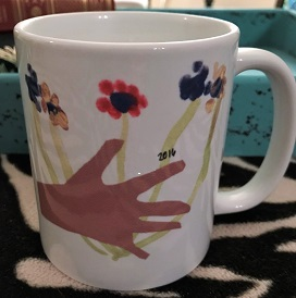 picture of mug with student art