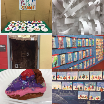 Miller's Art Show during family Math and Literacy night.